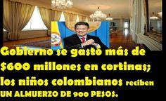 Colombia; Gobierno  se gastó más de $600 millones en cortinas  y dice que no hya recursos...