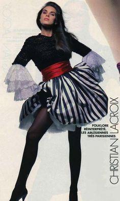Jean Patou by Christian Lacroix 80s Fashion, Fashion History, Timeless Fashion, Vintage Fashion, 20th Century Fashion, French Fashion Designers, 80s Dress, Christian Lacroix, Alternative Fashion