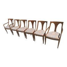 Vintage Kindel Belvedere Spoon-Back Dining Chairs - Set of 6 - Rare Vintage Furniture For Sale, Home Furniture, Outdoor Furniture, Chair Pictures, Outdoor Chairs, Outdoor Decor, Dining Chair Set, Side Chairs, Upholstery