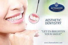 Let Us Brighten Your Smile.  Visit http://www.altamashclinic.com/ #AltamashDentalClinic #TeethWhitening #Orthodontics #RootCanalTreatment #Bridge #Crown #DentalTreatment #DentalCare #DentalClinic #AltamashDentalClinicPakistan