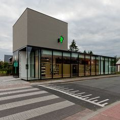 side view - vertical text.   Pharmacy M by Caan Architecten