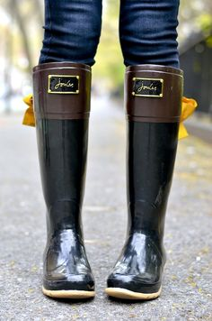 Joules Evedon Rain Boots ... Im more on plain colored ones so they are easy to match with clothes