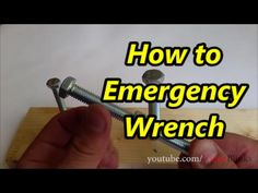 How to Emergency Wrench Subscribe http://www.youtube.com/user/videoblinks?sub_confirmation=1 #how #howto #tools #cool #emergency #mechanic #wrench
