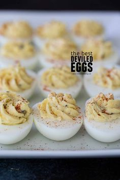 You can't beat a classic, and this really is the Best Deviled Egg Recipe. A little bit sweet, a little bit sour - these are perfect for your next party or potluck. Easy Egg Roll Recipe, Egg Roll Recipes, Lime Recipes, Waffle Recipes, Sandwich Recipes, Copycat Recipes, Best Deviled Eggs, Deviled Eggs Recipe, The Best