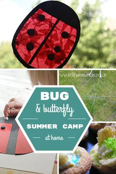 A week's worth of summer camp at home activities around the theme of Bugs and Butterflies sourced and planned for you with crafts, learning and snacks.