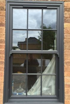 upvc sliding sash windows box sash A rated any size one price! Upvc Sash Windows, Grey Windows, Porch Windows, Cottage Windows, Roof Window, Sliding Windows, House Windows, Sliding Doors, Painting Upvc Windows