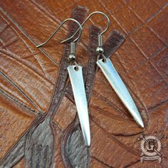 Silver Fork Tine Earrings by Doctor-Gus