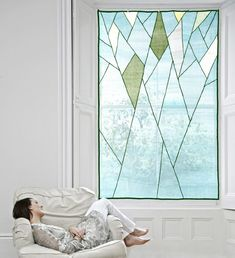design meem. Jessica Yoo Korean Design, Tree Designs, Textile Artists, Patchwork, Sheer Shades, Window Coverings, Fabric Art, Decoration, Window Curtains