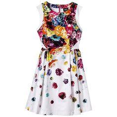 Prabal Gurung For Target Dress w/ Full Skirt in Floral Crush Print ($25) ❤ liked on Polyvore
