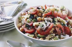 Pasta and Bean Salad with Feta Cheese Image 1
