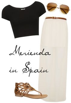 """Merienda in Spain x"" by ellyjellybeans on Polyvore"