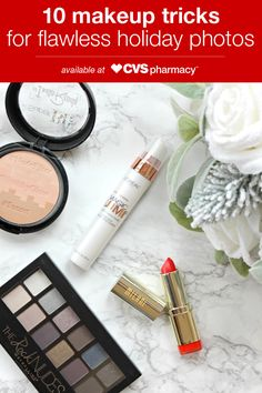 """Here are 10 tips from Stephanie at """"Diary of a Debutante"""" that will give you a flawless look in your holiday photos using makeup, brushes, and more that you can pick up from CVS Pharmacy."""