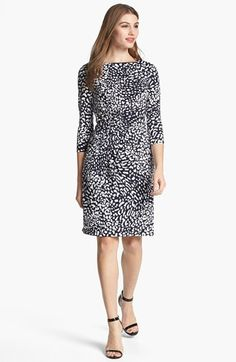 Adrianna Papell Animal Print Ruched Sheath Dress (Plus Size) available at Nordstrom