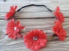 Coachella flower crown Hippie Boho headband by myfashioncreations, $10.00