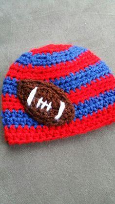 Baby Crochet Ole Miss football hat