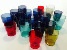 Saara Hopea - stacking glasses 1950s Design, Finland, Scandinavian, Glass Art, Objects, Ceramics, Tableware, Modern, Concrete