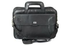 """HP Laptop Computer Bag Briefcase Multiple Compartments with Strap 15 5/8 x 17 Measurement: 15 5/8"""" h x 17""""l x 6"""" w Condition: Pre-owned, inspected, minor scratches on the outside. Inside is clean."""
