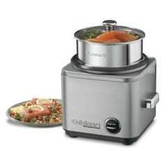 The Cuisinart Rice Cooker/Steamer makes rice easier than ever. This easy-to-use steamer makes up to eight cups of rice and can also steam. Polenta, Cuisinart Rice Cooker, Stainless Steel Rice Cooker, Best Rice Cooker, Rice Cooker Steamer, Steamer Recipes, Cord Storage, Easy Storage, Cooking Appliances
