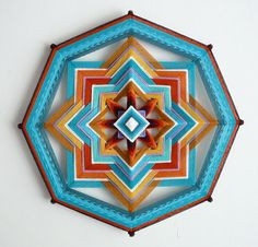 Golden Sky a 16 inch Ojo de Dios in stock by JaysMandalas on Etsy, $75.00
