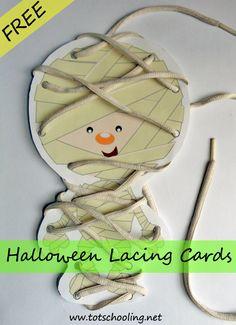 Lacing Cards(development of fine motor skills)