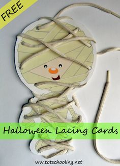 Free Halloween Lacing Cards from Totschooling