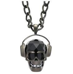 Swarovski headphone skull pendant Www.swarovski.com