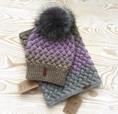 Купить Вязаный комплект: шапка и снуд - шапка, шапка вязаная, шапка женская, шапка зимняя