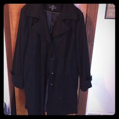Long Wool Coat Only worn a few times, mid length, perfect condition Carson's Jackets & Coats Trench Coats