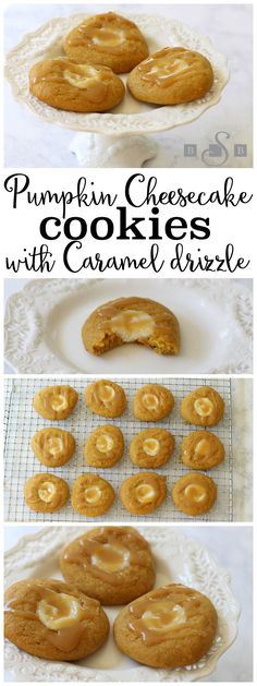 Pumpkin Cheesecake Cookies with Caramel - Butter With A Side of Bread