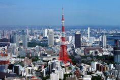 The Tokyo Tower in functions as a communications and observation tower. It is the second-tallest structure in Japan. Can you guess what tower inspired the design of the Tokyo Tower? Tokyo Skyline, Paris Skyline, Samba, Yoyogi Park, Tokyo Tour, Japanese Travel, Tower Building, Facts For Kids, 23 November