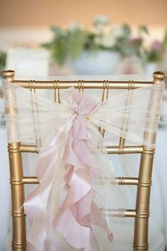 Customized Wedding Chair Sash Cover Purple On The Ribbon And Tulle Around