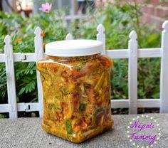 Kadheko Tarkariharu ko Achar (Mixed Vegetables Pickle) Recipe!! Nepali Tummy Indian Food Recipes, Gourmet Recipes, Vegetarian Recipes, Cooking Recipes, Cooking Tips, Indian Pickle Recipe, Veg Pickle Recipe, Nepal Food, Relish Sauce
