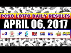 PCSO Lotto Draw Results Today  April 06, 2017 COMPLETE & OFFICIAL - http://LIFEWAYSVILLAGE.COM/lottery-lotto/pcso-lotto-draw-results-today-april-06-2017-complete-official/