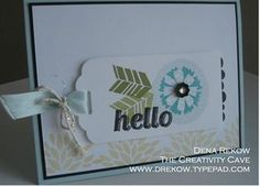 The Creativity Cave, Stampin Up, Sale-a-bration, Petal Parade, Scallop Tag Topper Punch, Dena Rekow