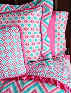 Not as cute as the baby bedding, but still a possibility for Abby's big bed.