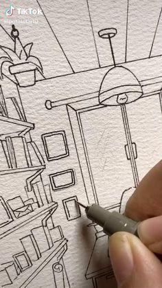 Art Drawings Sketches Simple, Pencil Art Drawings, Watercolor Art Lessons, Watercolor Paintings, Watercolour, Diy Canvas Art, Painting & Drawing, Drawing Tips, Art Sketchbook