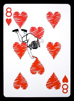 Emmanuel Jose - Click through to see the whole deck! Unique Playing Cards, Playing Cards Art, Vintage Playing Cards, Play Your Cards Right, Art Carte, Create Drawing, Card Tattoo, Paper Hearts, Deck Of Cards