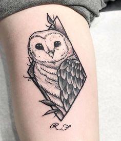 owl tattoo for women ~ owl tattoo for women & owl tattoo for women small & owl tattoo for women unique & owl tattoo for women sleeve & owl tattoo for women shoulder & owl tattoo for women arm & owl tattoo for women back & owl tattoo for women vintage Simple Owl Tattoo, White Owl Tattoo, Owl Tattoo Small, Small Tattoos, Tattoo Black, Dream Tattoos, Cute Tattoos, Body Art Tattoos, Sleeve Tattoos