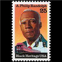 1989 25c A.P. Randolph Mint Single
