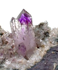 Amethyst Crystals on Matrix from Brandberg Area, Namibia