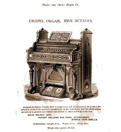 Taylor & Farley - 1M Chapel Organ. Five Octaves