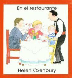 """En el restaurante"""" de Helen Oxenbury. Mamá está cansada y la familia decide ir al restaurante. Pero allí, no todo sale """"bien"""". Leyendo este libro lleno de sentido del humor, los pequeños pueden aprender mucho sobre como hay que comportarse en un restaurante """"sin meter la pata"""" y aprender que aún sin querer, se puede armar un lío tremendo. Signatura: BEBÉ MUN"""