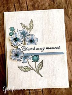 Gillian Long - Independent Stampin' Up! Card Making Inspiration, Making Ideas, Paris Cards, Wedding Anniversary Cards, Stamping Up Cards, Creative Cards, Flower Cards, Small Gifts, Birthday Cards