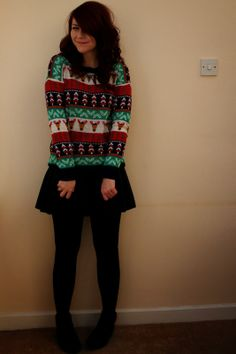 1585259bfa Girl Next Door Fashion shares her fabulous  xmasjumperday styling. National  Christmas Jumper Day