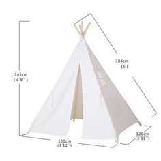 Diy Kids Teepee, Teepee Play Tent, Diy Tent, Kids Tents, Teepees, Indian Teepee, Wooden Poles, Canvas Tent, Play Houses
