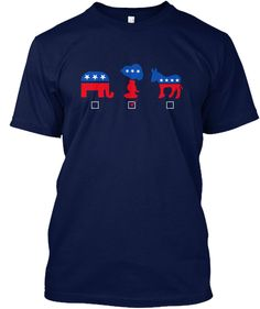 Snoopy For President Navy T-Shirt Front
