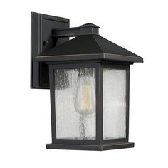 filament design malone 1 light oil rubbed bronze outdoor wall lantern sconce