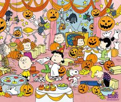 Peanuts Gang Halloween Party Art Source by Snoopy Halloween, Retro Halloween, Charlie Brown Halloween, Great Pumpkin Charlie Brown, Charlie Brown Christmas, Halloween Cookies, Holidays Halloween, Happy Halloween, Halloween Decorations