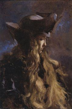 La Chevelure - Lucien-Victor Guirand de Scevola Idea for portrait of Erika Gustav Klimt, Dainty Doll, Blog Art, Lucien, Pre Raphaelite, Classical Art, French Artists, Figurative Art, Oeuvre D'art