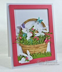 Easter Basket and Bunnies. (Not basket bunch but can be used for the idea)